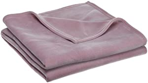 Martex Vellux Full/Queen Blanket, Plum Rose