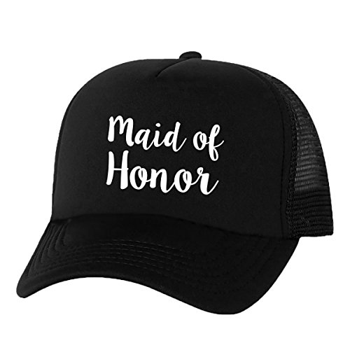 [Maid of Honor Truckers Mesh snapback hat in Black - One Size] (Maid Hat)