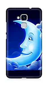 Amez designer printed 3d premium high quality back case cover for Huawei Honor 5C (Animated Moon)