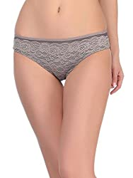 Clovia Lacy Panty In Slate