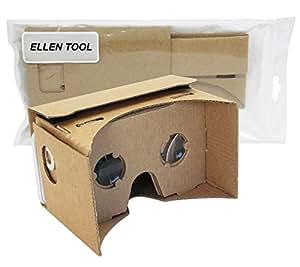 Ellen Tool DIY Google Cardboard 3d Vr Virtual Reality 3d Glasses for Iphone Samsung HTC Cellphones 3.5-5.5 Inch Screen