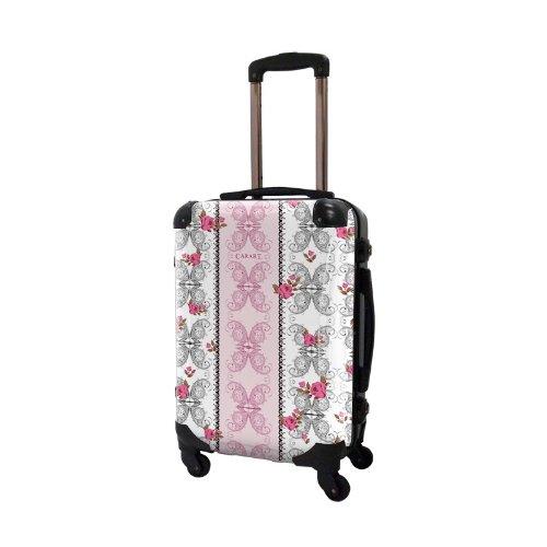 キャラート アートスーツケース ベーシック フェミ フレーム4輪 機内持込 (CRA01-005B(ピンク×グレー))
