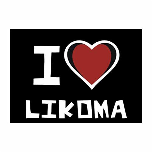 Teeburon I love Likoma Sticker Pacchetto di 4