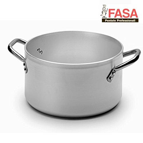 Casseruola Alta Due Maniglie professionale della FASA diametro 40cm in alluminio puro 99.5% MADE IN ITALY