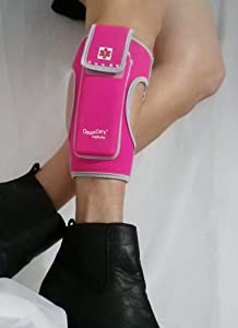 "Legbuddy Epi Pen Leg Pouch Size S-M ""Dazzle Pink"" with Swarovski Stones"