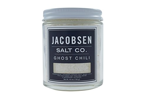 Jacobsen Salt Co, Ghost Chili Flavor, Gourmet Infused Sea Salt, Hand-Harvested in Netarts Bay, OR, Made in the USA, 4.8 Oz (136 g) Jar (Quest Chip Salt And Vinegar compare prices)