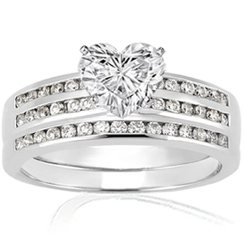 1.40 Ct Heart Shaped Diamond Engagement Wedding