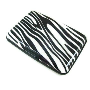 Zebra Business Credit Card Case Wallet Holder By Designsk