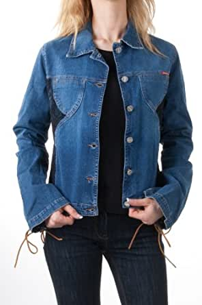 : Jiggy designer Women denim jacket blue top Arezzo, size:s: Clothing