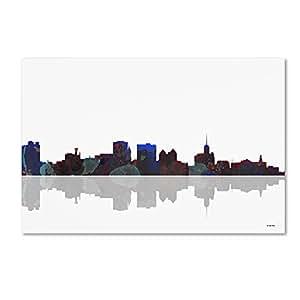 Trademark Fine Art Buffalo New York Skyline Wall Decor By