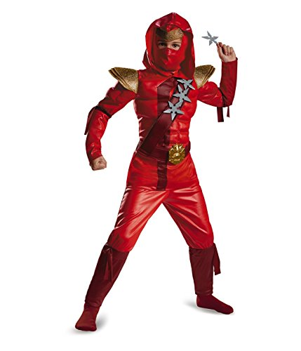 Little Boys' Red Fire Ninja Muscle Chest Costume