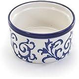 BIA Cordon Bleu White Porcelain with Blue Swirls 6 ounce Ramekin- Set of 4