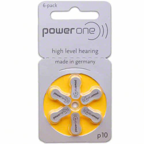Hearing Aid Battery Powerone size 10 made in Germany Genuine