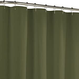 green curtains fabric