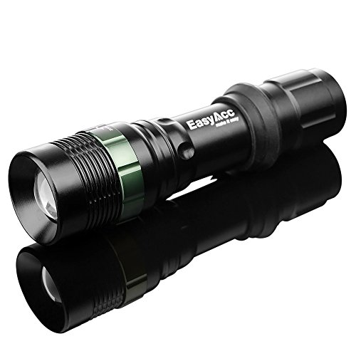 Easyacc® Flashlight Torch 500Lm 3-In-1 Gree Led Bike Light, Headlamp Adjustable Focus Zoom Light Lamp, Free Head Strap And Bike Mount