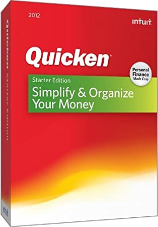 Quicken Starter Edition 2012 [OLD VERSION]