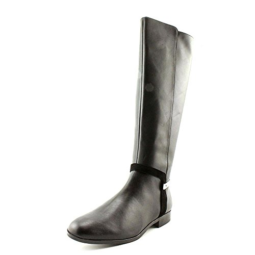 Calvin Klein Women'S Randa Kid Suede Calf Riding Boot,Black,5.5 M Us