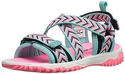 carter\'s Splash-G Sandal (Toddler/Little Kid), Black/Neon Pink, 6 M US Toddler
