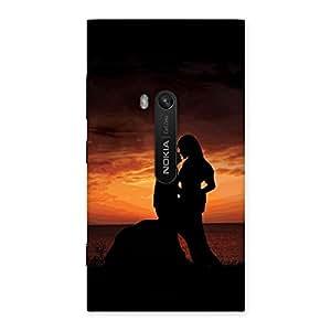 Ajay Enterprises Love Couple Shado Back Case Cover for Lumia 920