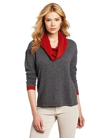 (羊绒)美国大牌 Design History 女式100%羊绒套头毛衣 Russet色 $63.93
