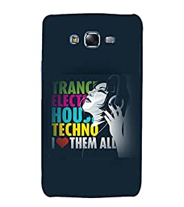printtech Music Quotes Girl Back Case Cover for Samsung Galaxy J7 (2016 )