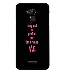 PrintDhaba Quote D-4414 Back Case Cover for COOLPAD NOTE 3 LITE (Multi-Coloured)
