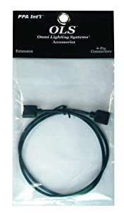 PPA OLSHAEXT2FT Home Accent Extension Cable, Black, 2-Foot