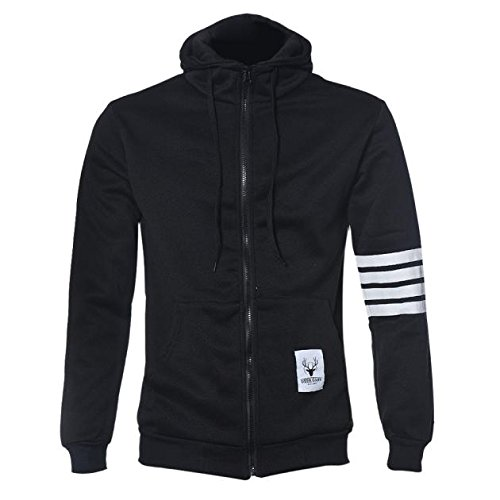 Men Jackets,Laimeng Men Sweatshirt Hoodie Casual Zipper Hooded Jackets (XL, Black) (Wool Sweater Figures compare prices)