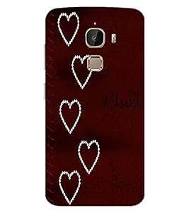 ColourCraft Love Hearts Design Back Case Cover for LeEco Le 2 Pro