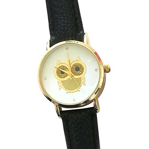 sanwood-womens-owl-faux-leather-strap-casual-wrist-watch-black