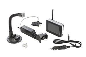 Master Lock 4843DATSEN Vehicle Back Up and Hitch Alignment Camera with 3.5 Inch Color Monitor