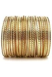 Bronze Goddess Set of 50 Stacking Bangle Bracelets