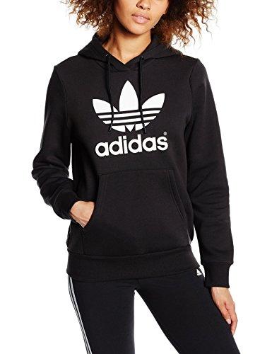 Adidas Trf Logo Hoodie Felpa Donna, Nero, 38