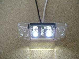 "White LED 2.5"" Boat RV Camper Accent Courtesy Light / Clear Lens"