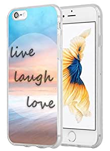 Case for Iphone 6 Quotes About Life, Iphone 6S Case Inspirational Quotes About Life Love From Songs Live Laugh Love Colorful Sea Coast Sunset
