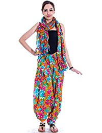 Om Prints Multi Colour Women's Patiala And Dupatta Set Of 1 ( Free Size)
