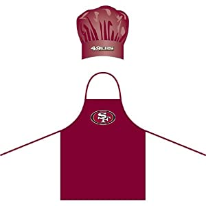 San Francisco 49Ers Nfl Barbeque Apron And Chefs Hat