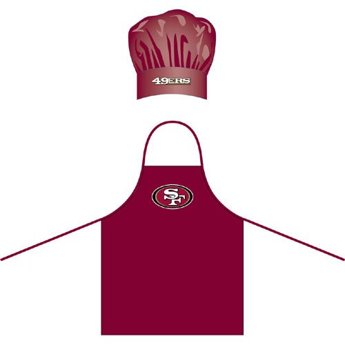 pro-specialties-group-psg-z180068-san-francisco-49ers-nfl-barbeque-apron-and-chef-s-hat