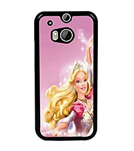 PrintDhaba Barbie Doll D-1015 Back Case Cover for HTC ONE M8s (Multi-Coloured)