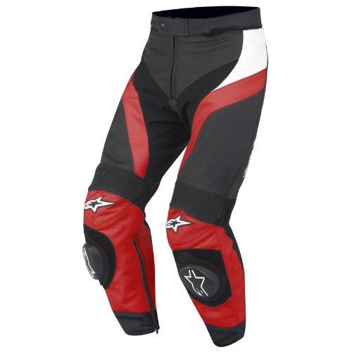 Alpinestars Stella GP Plus Lederhose, Farbe schwarz-rot-weiss, Größe 42(IT48)