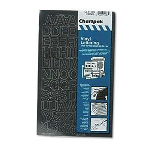 "Pickett Design Vinyl Numbers/Letters Stickers, 3/4"", Black"