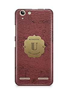 YuBingo Monogram with Beautifully Written Wooden and Metal (Plastic) Finish letter U Designer Mobile Case Back Cover for Lenovo Vibe K5 / K5 Plus