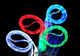8 PIN Visible LED LIGHT USB Charge Sync Cable for Apple Iphone 5 5g (Red)