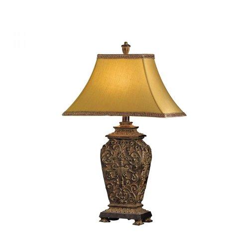 Kichler Lighting 70034 Blackburn - One Light Portable Table Lamp, Blackburn Finish with Copper Geneva with Coffee Trim Glass
