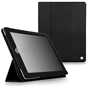 CaseCrown Bold Trifold Case (Black) for the new iPad / iPad 2 (Built-in magnet for sleep / wake feature)