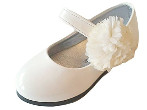 familientrends, Ballerine bambine, Bianco (bianco), 25