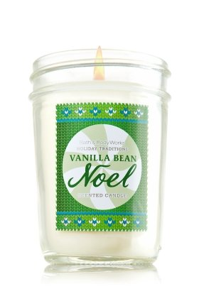 Bath & Body Works Holiday Traditions Vanilla Bean Noel Scented Mason Jar Candle