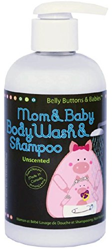 Belly Buttons and Babies Unscented Body Wash/Shampoo for Mom and Baby - 1