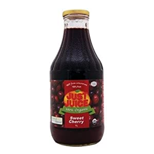 Pure Cherry Juice 100%-Unsweetened -Not from concentrate (1L) Brand: Just Juice