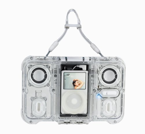 eGo Waterproof Sound Case with Dual Speakers for iPod (Clear)